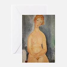 Seated Nude by Modigliani Greeting Card