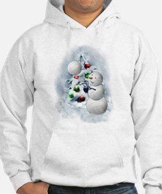 Volleyball Snowman xmas Hoodie