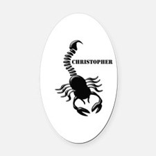 Personalized Black Scorpion Oval Car Magnet