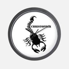 Personalized Black Scorpion Wall Clock