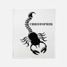 Personalized Black Scorpion Throw Blanket