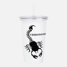 Personalized Black Scorpion Acrylic Double-wall Tu