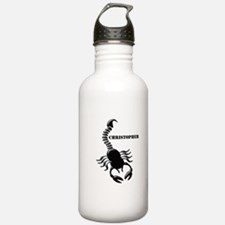 Personalized Black Scorpion Sports Water Bottle