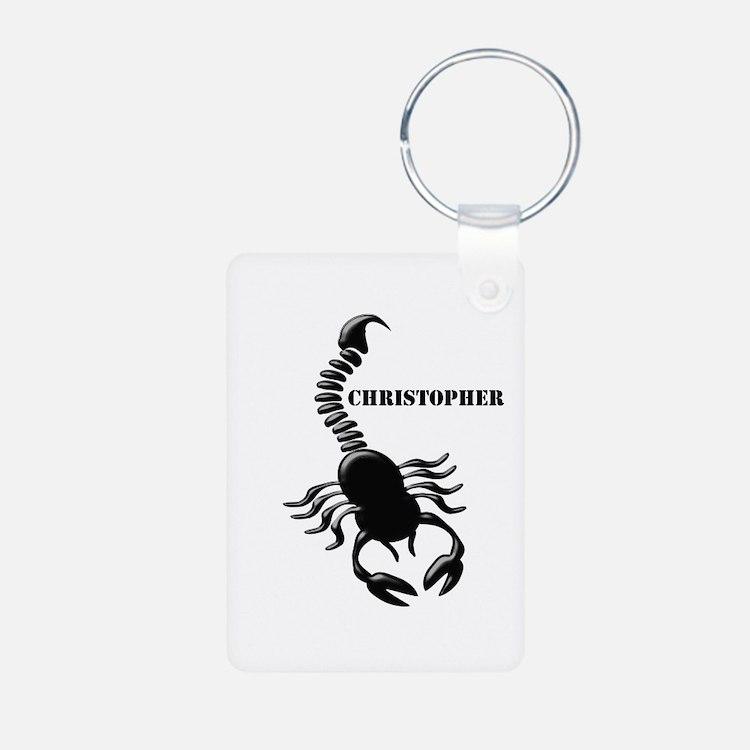 Personalized Black Scorpion Keychains