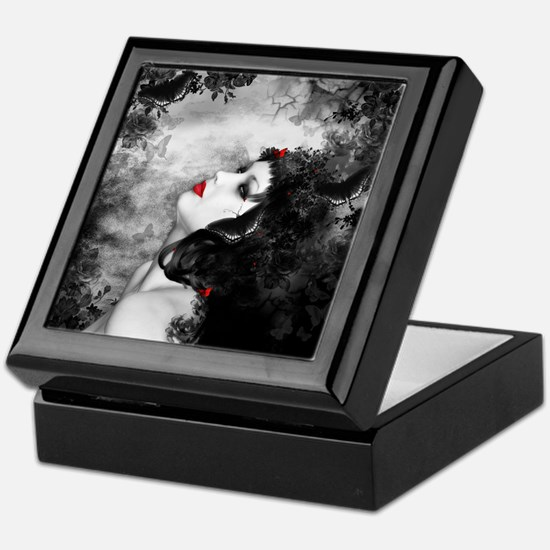 Black Rose Fantasy Keepsake Box