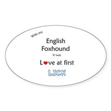 Foxhound Lick Oval Decal