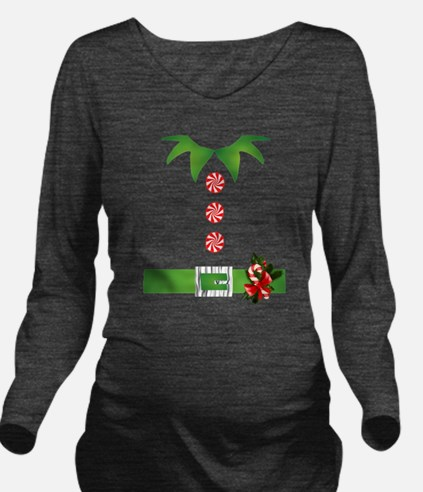 funny christmas elf Long Sleeve Maternity T-Shirt