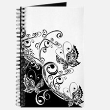 Black and White Butterflies Journal