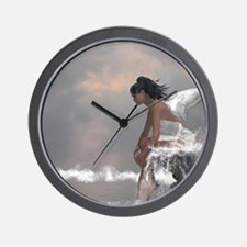 Water Angel Wall Clock