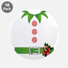 "funny christmas elf 3.5"" Button (10 pack)"