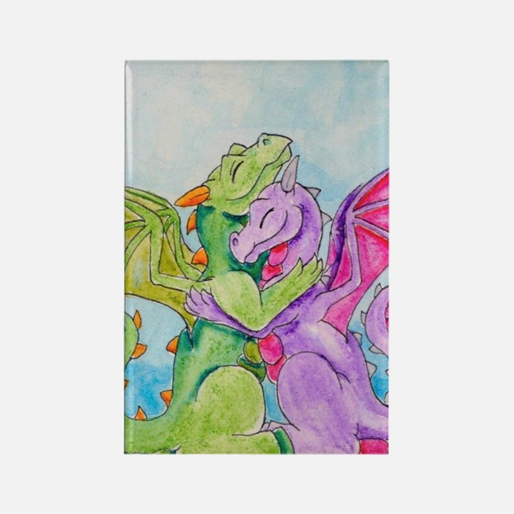 Cute Dragon lovers Rectangle Magnet