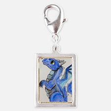 Cute Blue Silver Portrait Charm