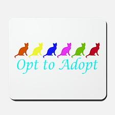 Rainbow Opt to Adopt Mousepad
