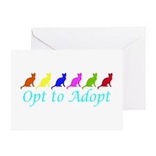 Rainbow Opt to Adopt Greeting Card