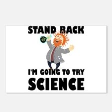 Stand Back I'm Going To T Postcards (Package of 8)