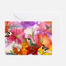 Hibiscus Butterflies Greeting Card