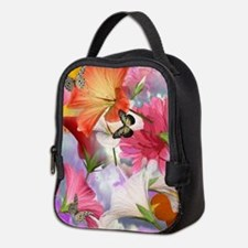 Hibiscus Butterflies Neoprene Lunch Bag