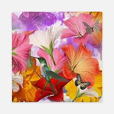 Hibiscus Butterflies Queen Duvet