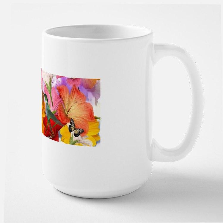 Hibiscus Butterflies Large Mug