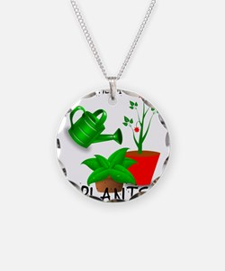 Sometimes I Wet My Plants Necklace Circle Charm