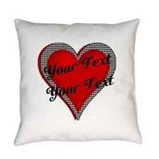 Crimson Heart Everyday Pillow