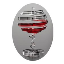 Weird Wine Glass Oval Ornament