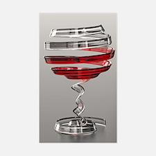 Weird Wine Glass Sticker (Rectangle)