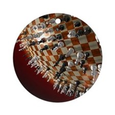 Global Chess Game Round Ornament