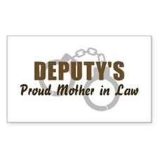 Deputy's Proud MIL Rectangle Decal