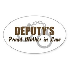 Deputy's Proud MIL Oval Decal