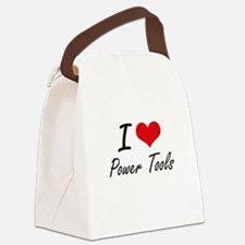 I love Power Tools Canvas Lunch Bag