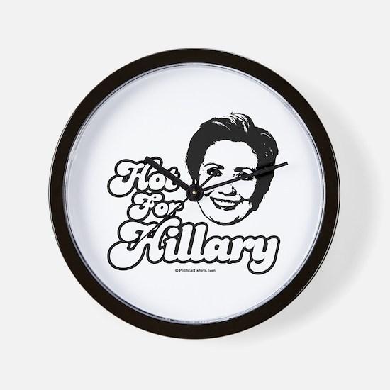 Hot for Hillary Wall Clock