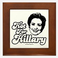 Hot for Hillary Framed Tile