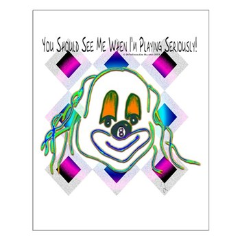 8 Ball Billiard Clown Small Poster