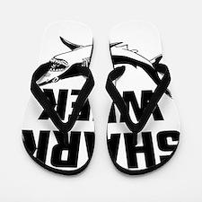 Shark Week Flip Flops