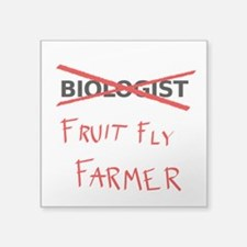 Biology Humor - Fruit Fly Farmer Sticker