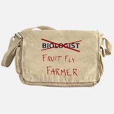 Biology Humor - Fruit Fly Farmer Messenger Bag