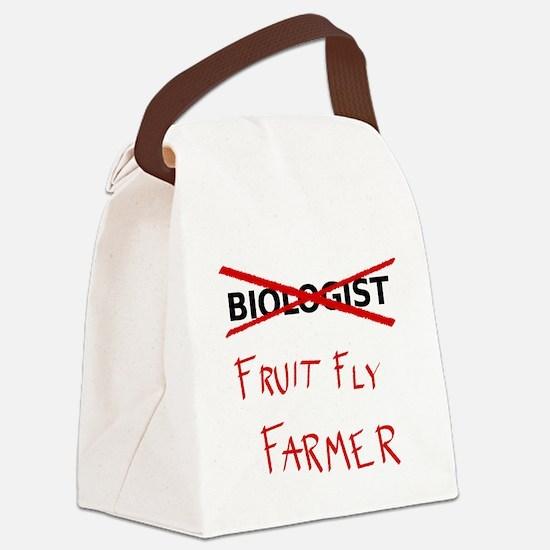 Biology Humor - Fruit Fly Farmer Canvas Lunch Bag