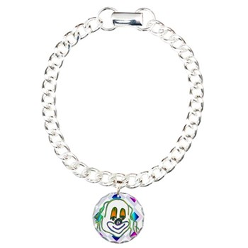 8 Ball Billiard Clown Charm Bracelet