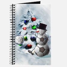 Soccer Ball Snowman Christmas Journal