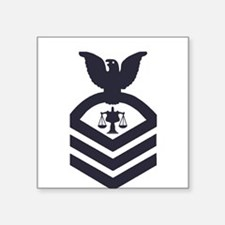 "Cute Coast guard petty officer Square Sticker 3"" x 3"""