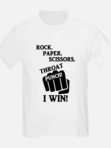 Rock, Paper, Scissors, Throat Punch! I win T-Shirt