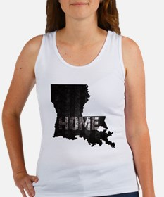 Louisiana Home Black and White Women's Tank Top