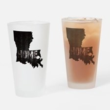 Louisiana Home Black and White Drinking Glass