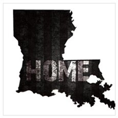 Louisiana Home Black and White Canvas Art