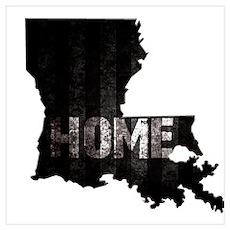 Louisiana Home Black and White Poster