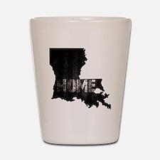 Louisiana Home Black and White Shot Glass