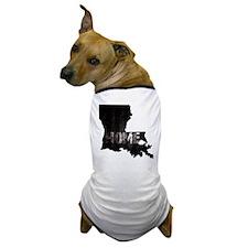 Louisiana Home Black and White Dog T-Shirt