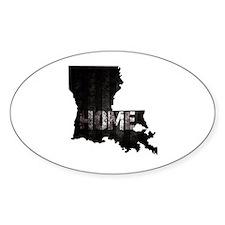 Louisiana Home Black and White Decal