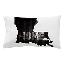 Louisiana Home Black and White Pillow Case